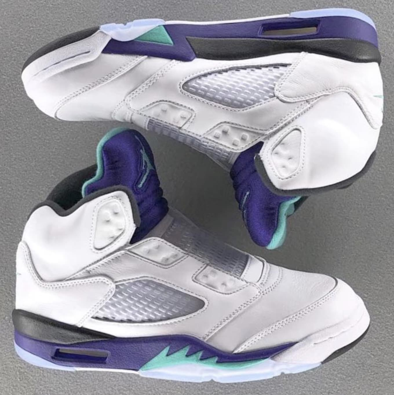 78abd445f8ec Air Jordan V 5 Retro NRG  White Grape Ice Black New Emerald  2018 ...