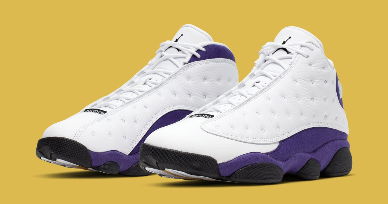 super popular 6e430 cd76c Air Jordan 13 'Lakers' White/Black-Court Purple-University ...