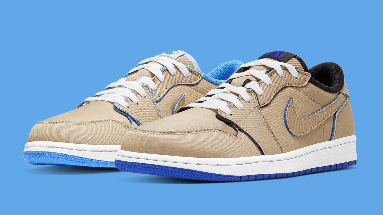Nike Sb X Air Jordan 1 Low Desert Ore Royal Blue Dark Powder Blue