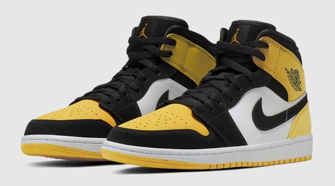 ed7fac87af1 The 'Yellow Toe' Air Jordan 1 Mid Is Releasing in Mid-Cut Form
