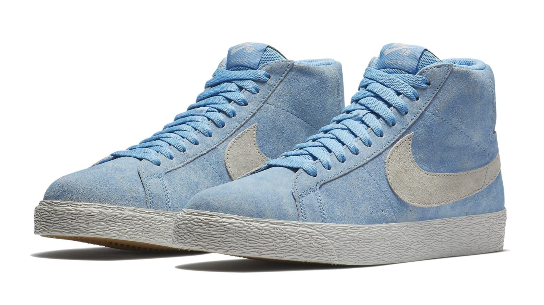 e63115ec4 Lance Mountain x Nike SB Blazer Mid Blue White Release Date