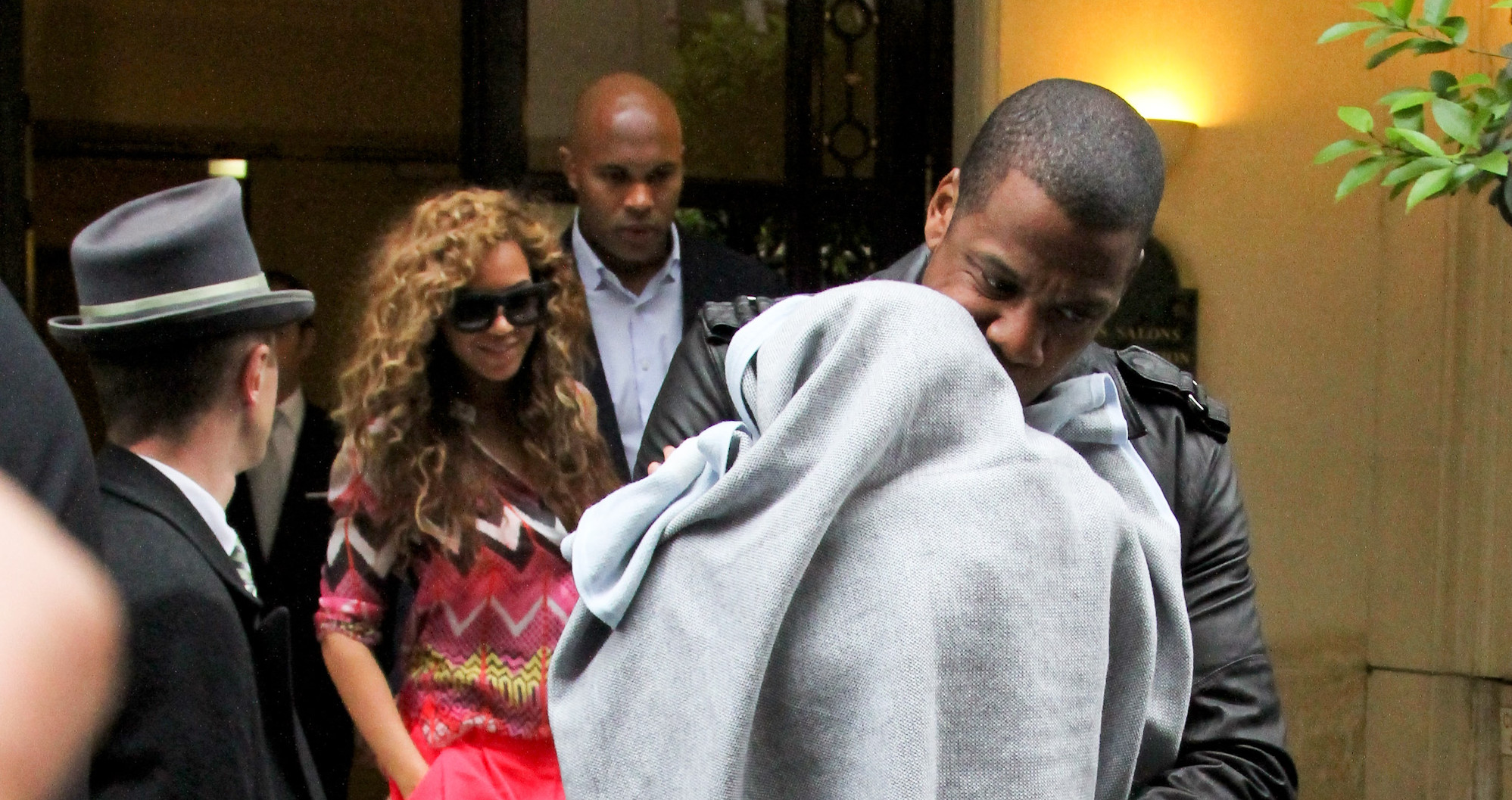 5b4c687db713 Jay-Z Introduces Blue Ivy to Paris in the  Cement  Air Jordan 3