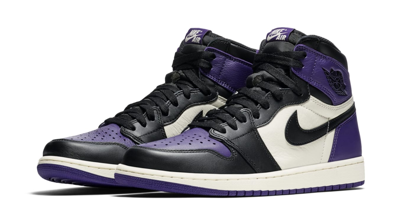 Air Jordan 1 I Court Purple Sail Black Release Date 555088-501 ... 29074f07a