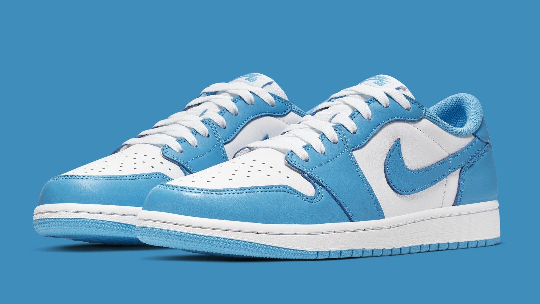 aplausos silencio subasta  Eric Koston x Nike SB x Air Jordan 1 Low x 'Carolina Blue' Release Date |  Sole Collector