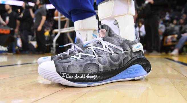 official photos 9c00a 5a511 Steph Curry s  Moon Landing  Sneakers Could Be Yours