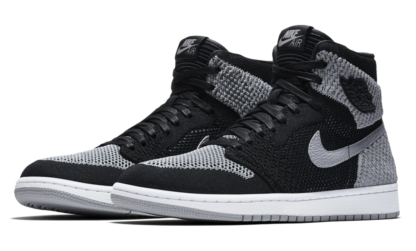 acbc58c24155b9 Air Jordan 1 Flyknit  Shadow  Black Medium Grey-White 919704-003 ...