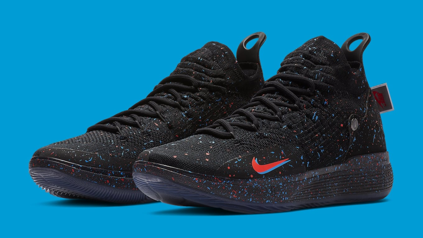 3a61a06b2097 Nike KD 11  Just Do It  Black Bright Crimson-Photo Blue AO2604-007 ...