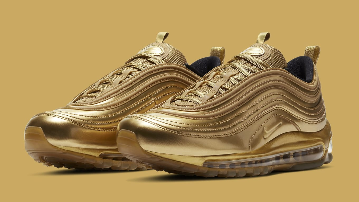 Mancha Dibuja una imagen fuego  Nike Air Max 97 'Gold' Release Date CT4556-700 | Sole Collector