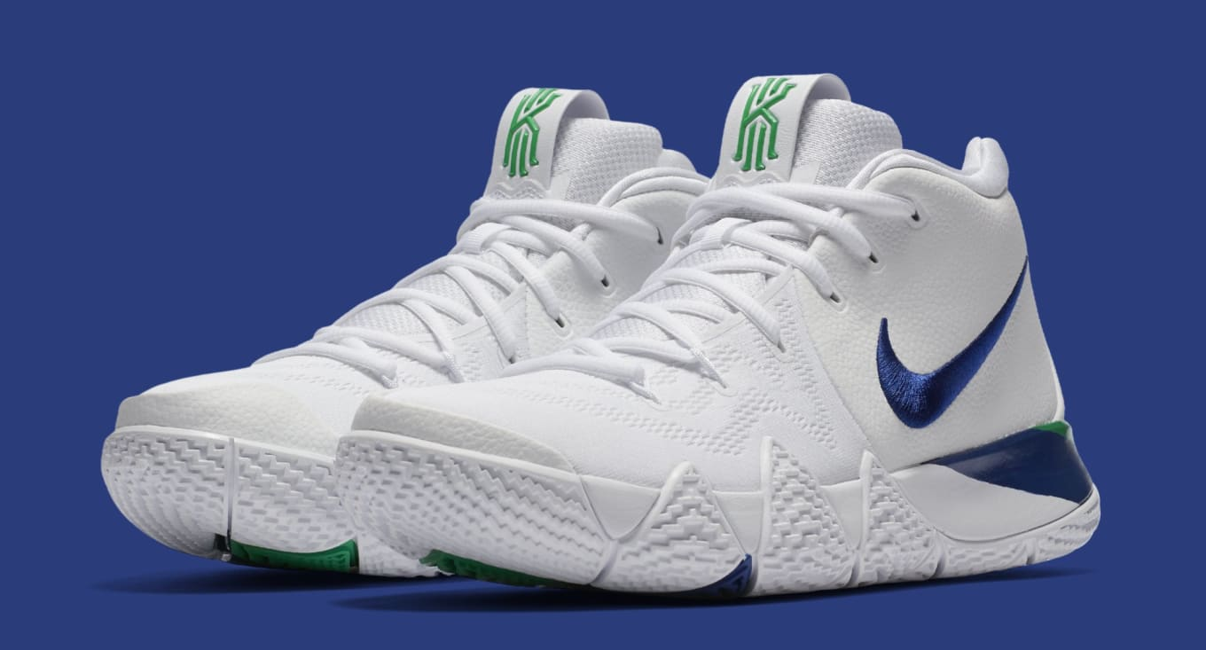 7652e50c6e0 Nike Kyrie 4 White Deep Royal Blue Release Date 943806-103