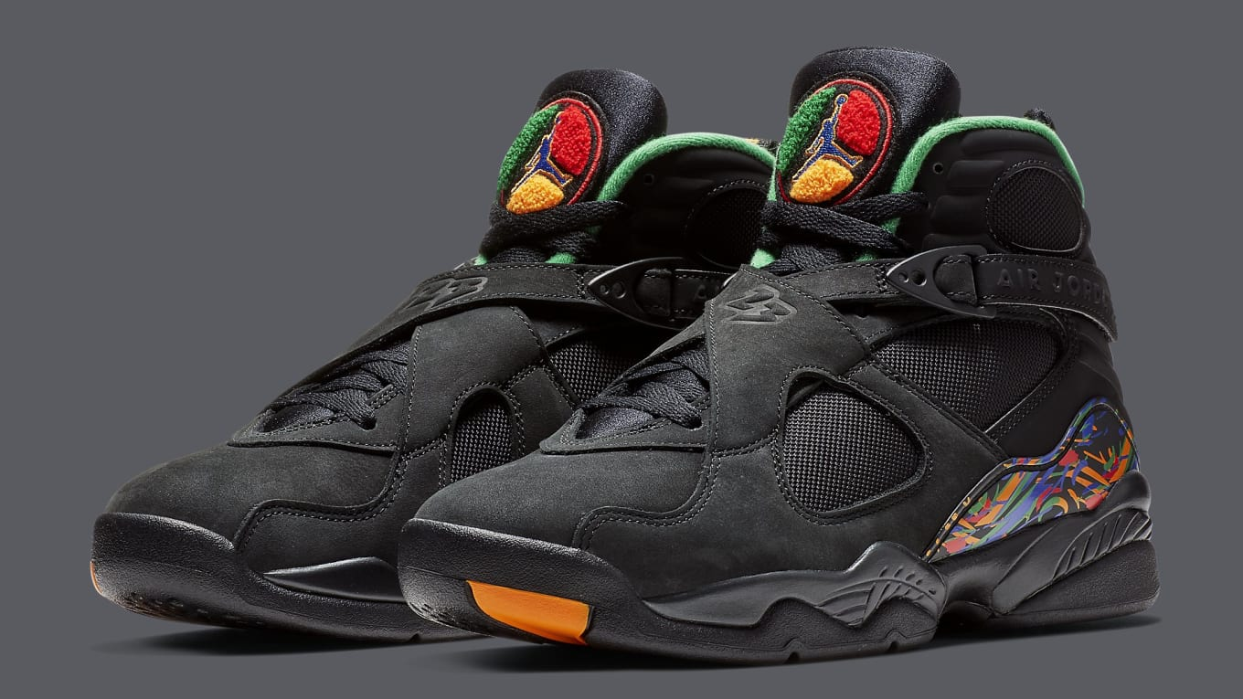 985449230a9239 The Air Jordan 8 Meets the Nike Air Raid. Not-so-distant relatives link up  for new retro colorway.