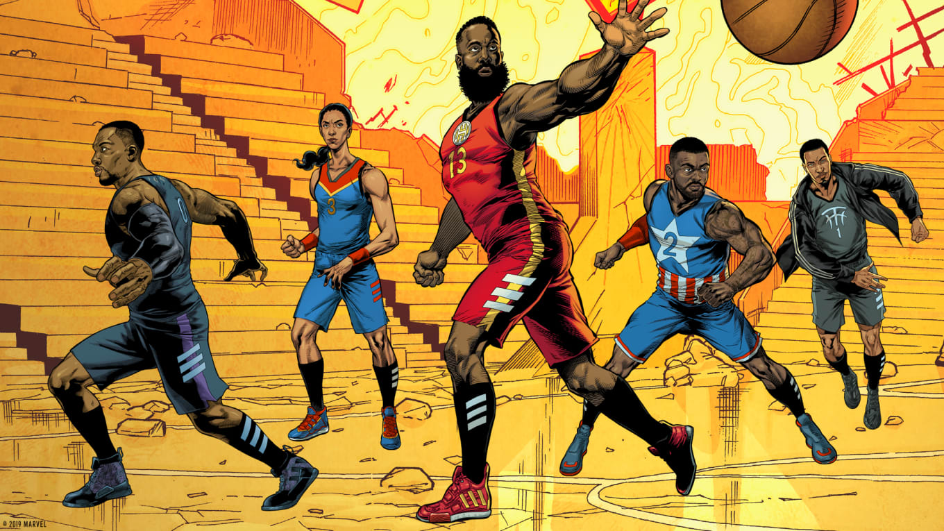 bd133a63b8 Marvel x Adidas Basketball Avengers 'Heroes Among Us' Collection ...