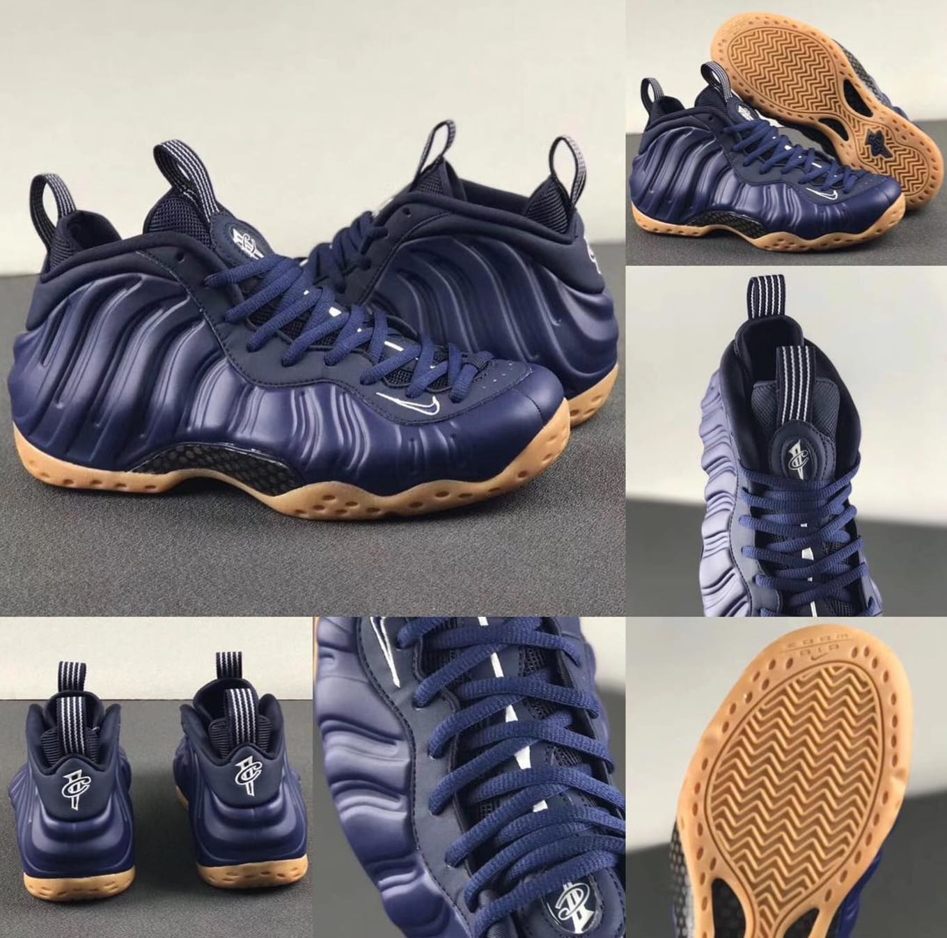 c6f861cca3c Nike Air Foamposite One  Midnight Navy Gum Light Brown-White ...