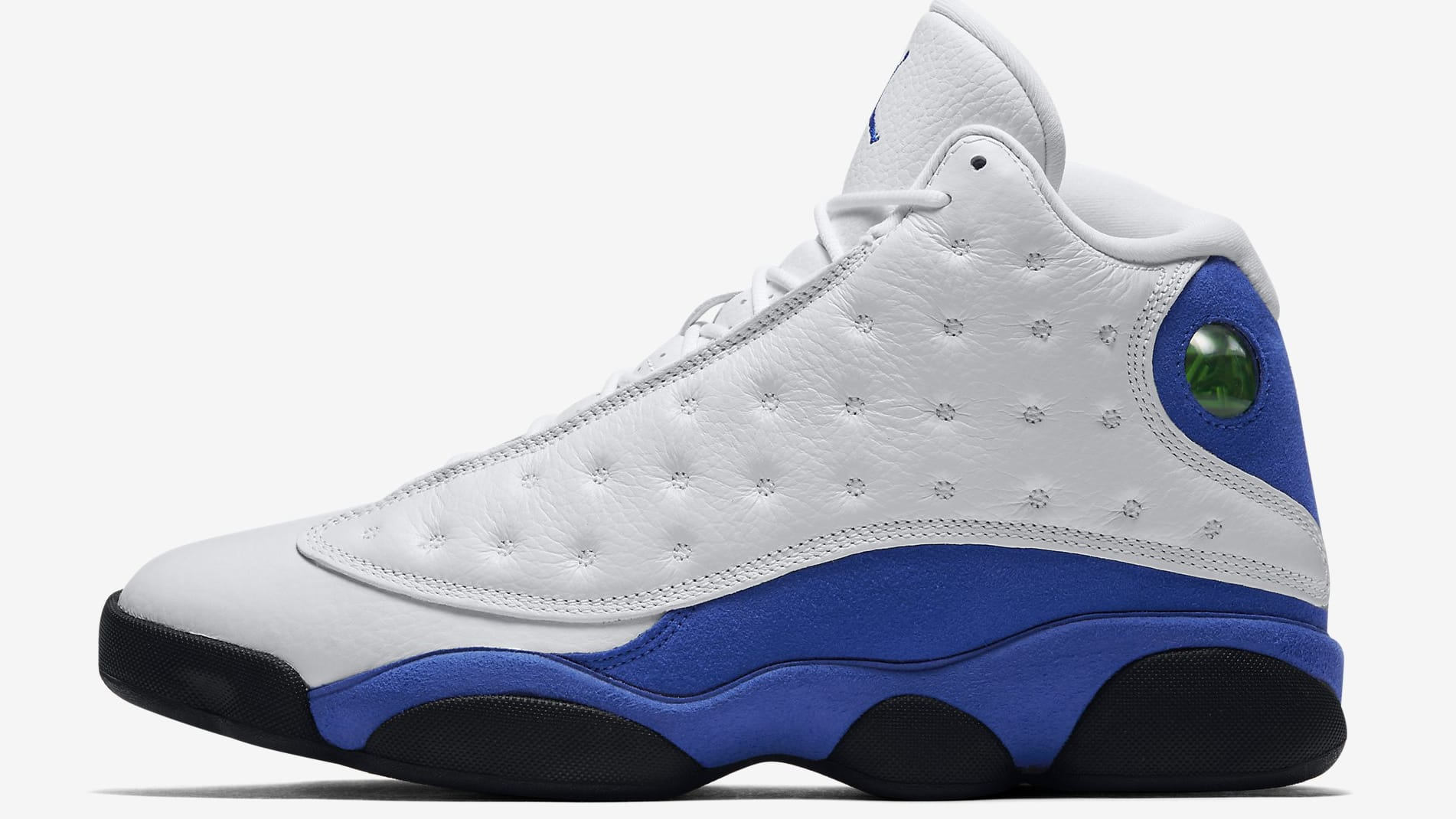Best Charming Air Jordan 13 Black White Blue f3349ihvu