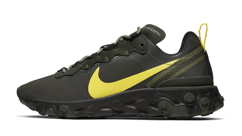 Nike React Element 55 'Oregon Ducks' Release Date | Sole