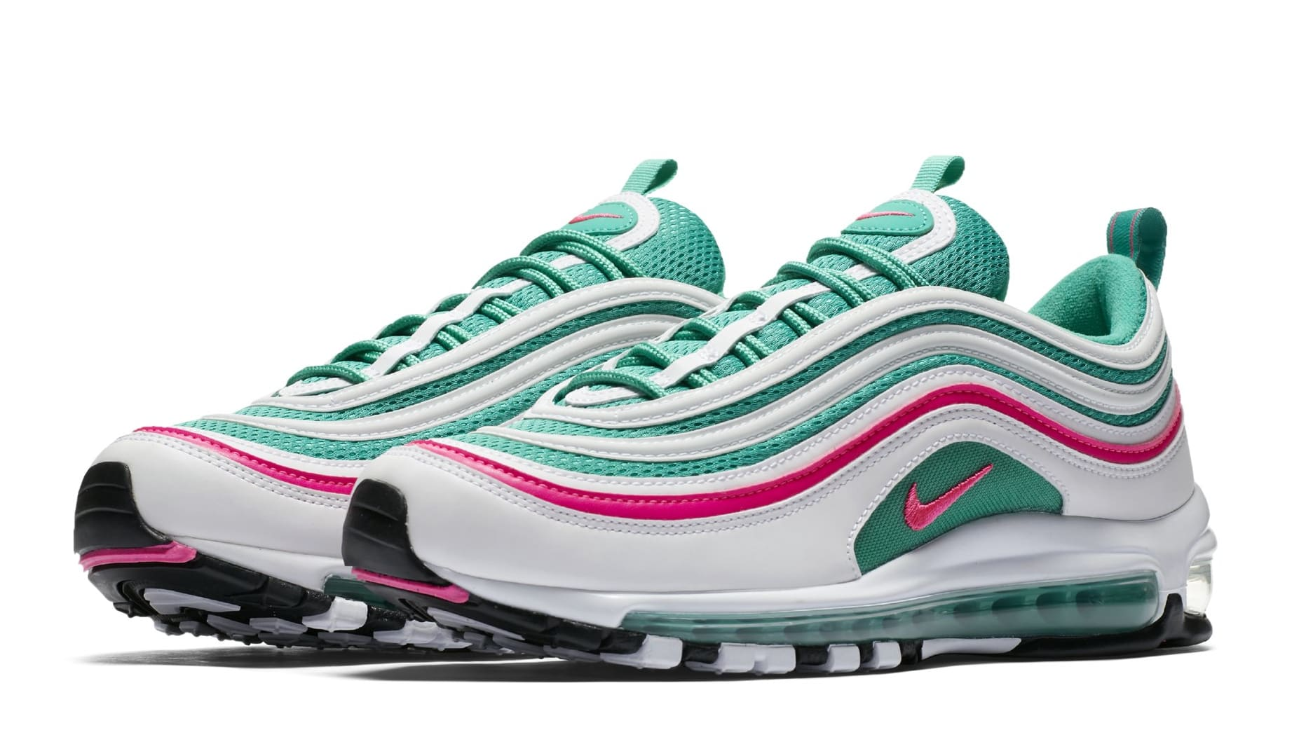 2018 Nike Air Max 97 South Beach Miami OG 921826-102 Green Pink Size 13 New