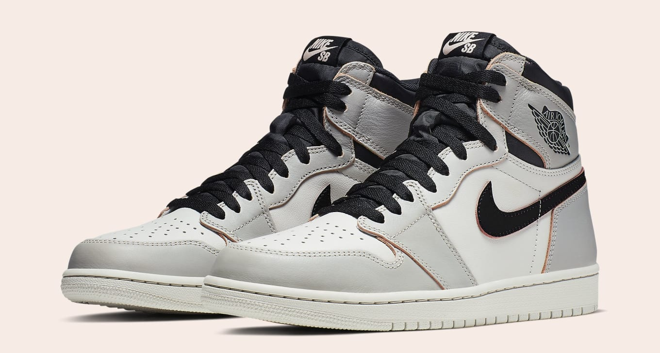 Nike SB x Air Jordan 1 'Light Bone/Crimson Tint-Hyper Pink ...