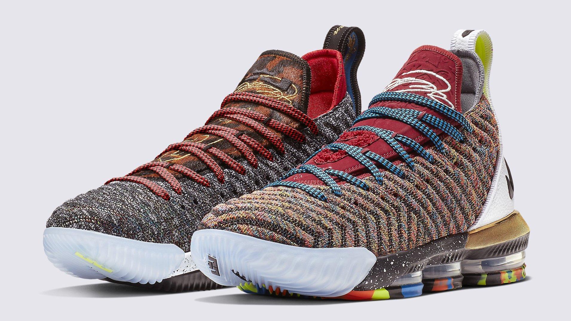Nike LeBron 16 What The 1 Thru 5 Release Date BQ6580-900   Sole ...