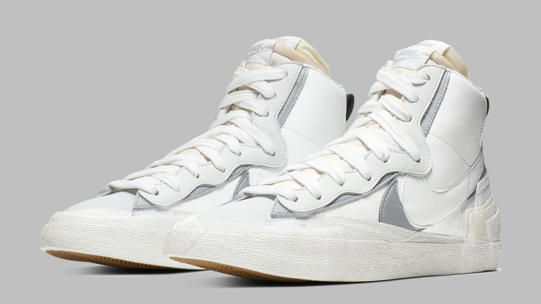 cheapest classic shoes fashion Sacai x Nike Blazer High Black White Release Date BV0072-100 ...