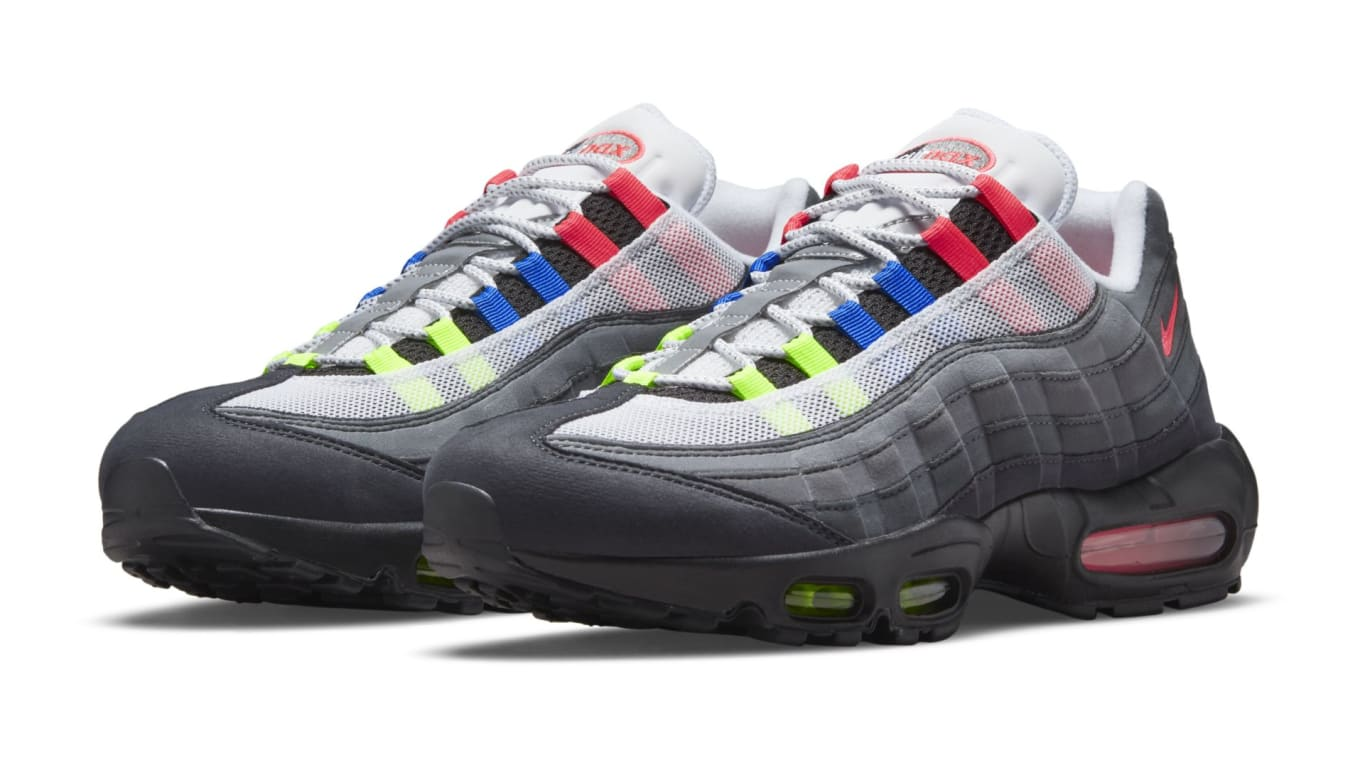 Nike Air Max 95 'Neon' 'Crystal Blue' 'Solar Red' Release Date ...