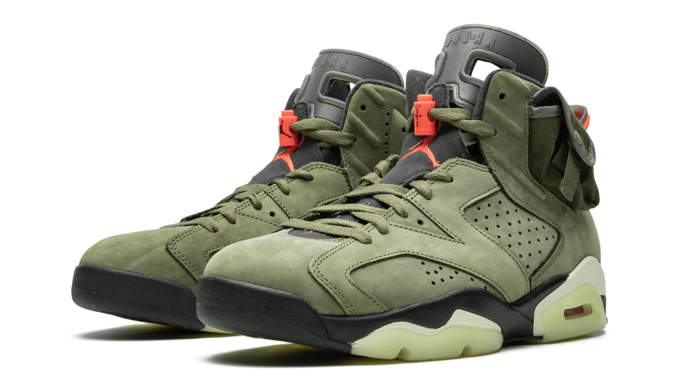buy online b8bb5 225a3 Travis Scott Air Jordan 6 VI Medium Olive Release Date ...
