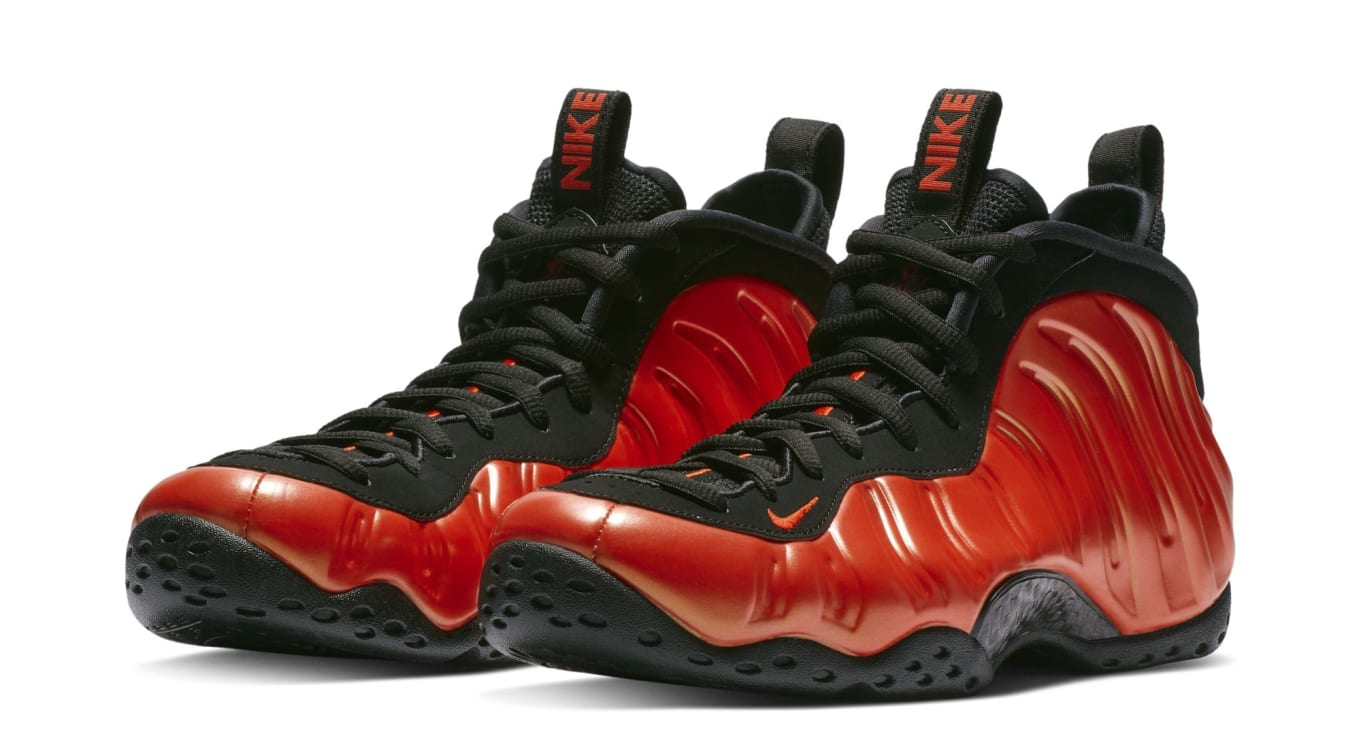 ed6b663e34503 Nike Air Foamposite One Habanero Red Black Release Date 314996-604 ...