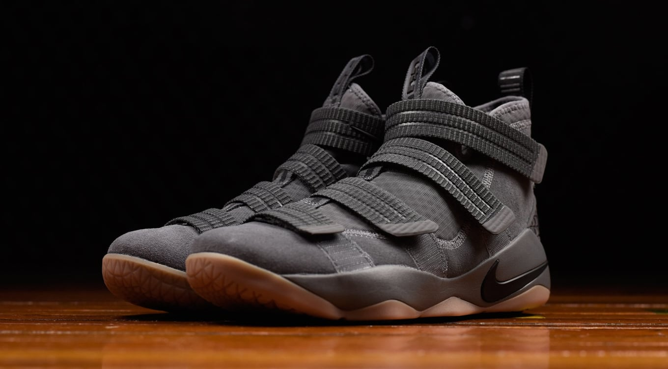21d94c701cc2 Nike LeBron Soldier 11 Grey Gum Release Date 897646-003