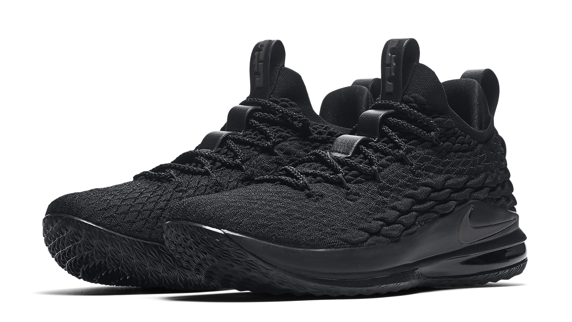 471ad817bc01 NIKE Mens Lebron 15 Basketball Shoes Black Black