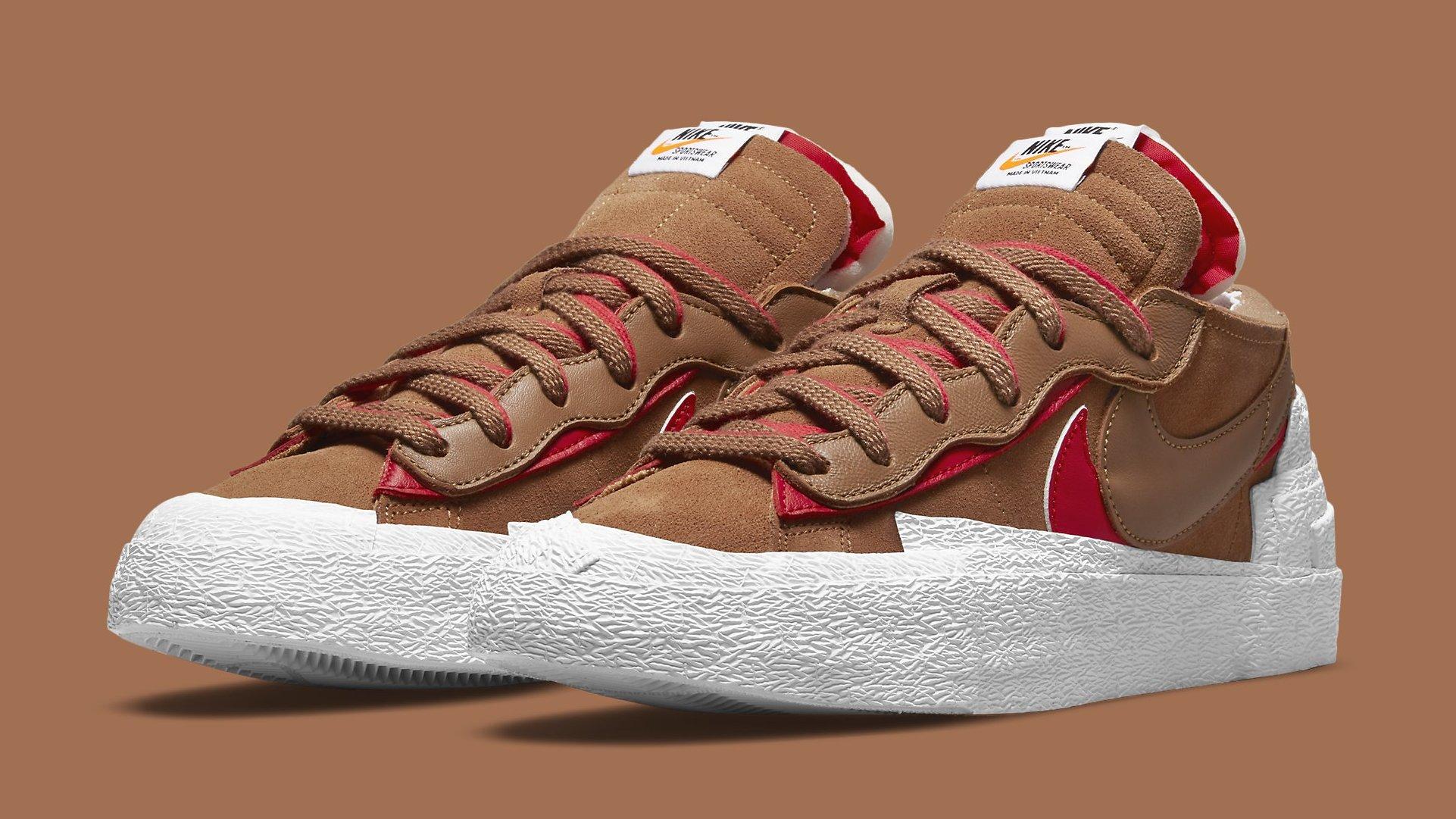 Sacai x Nike Blazer Low 'Iron Grey' 'British Tan' Release Date ...