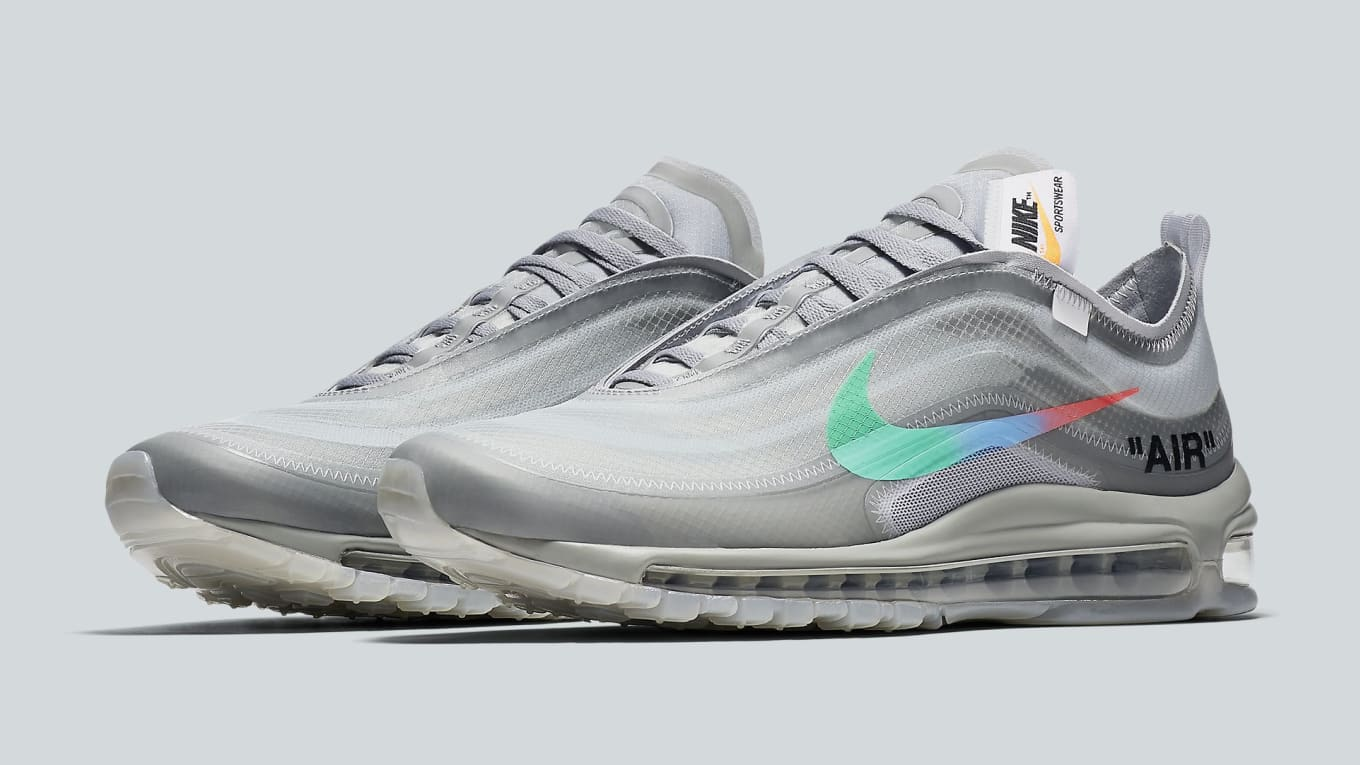 bb61a153f7a4 Off-White x Nike Air Max 97 Off-White Wolf Grey White Menta Release ...