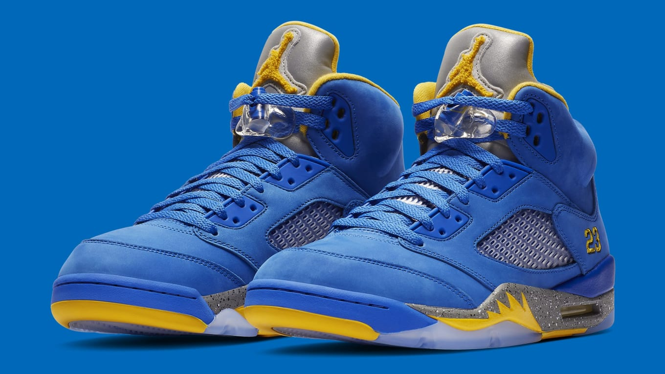 c0f8be856dd066 Air Jordan 5 JSP Laney  Varsity Maize     Varsity Royal  Release ...