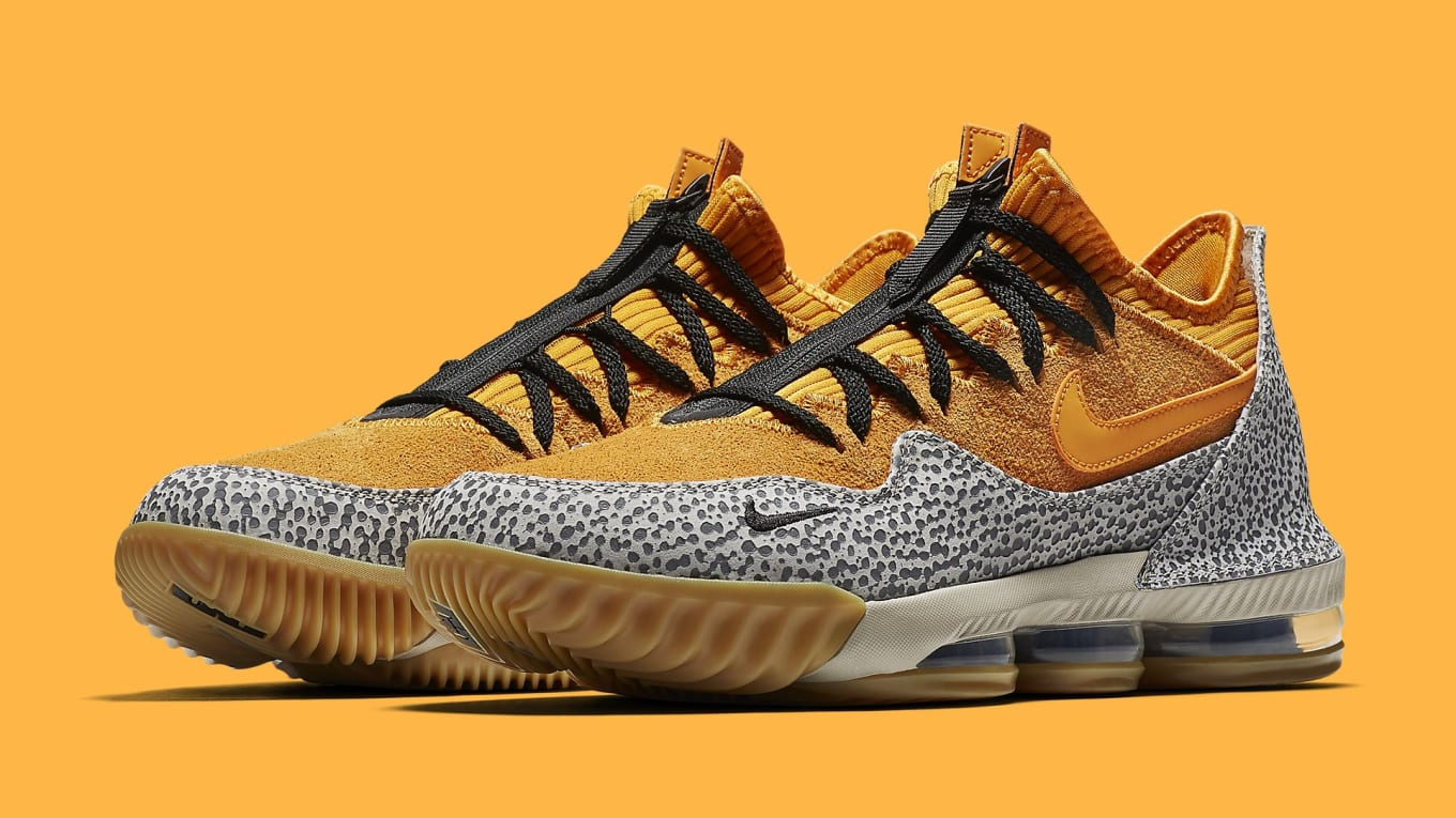 454f6e9f0c The 'Safari' Nike LeBron 16 Low Is Releasing Soon. 'Atmos' Air Max 1 ...