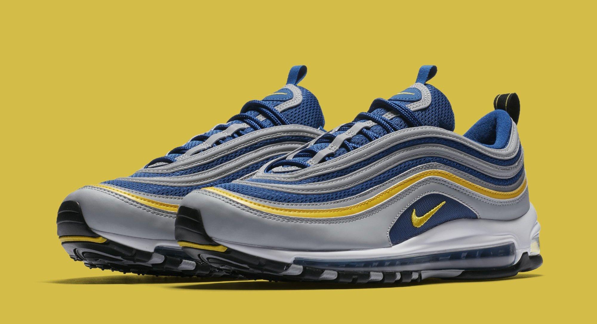 e142cf584e536 Nike Air Max 97  Wolf Grey Tour Yellow Gym Blue  921826-006 Release Date
