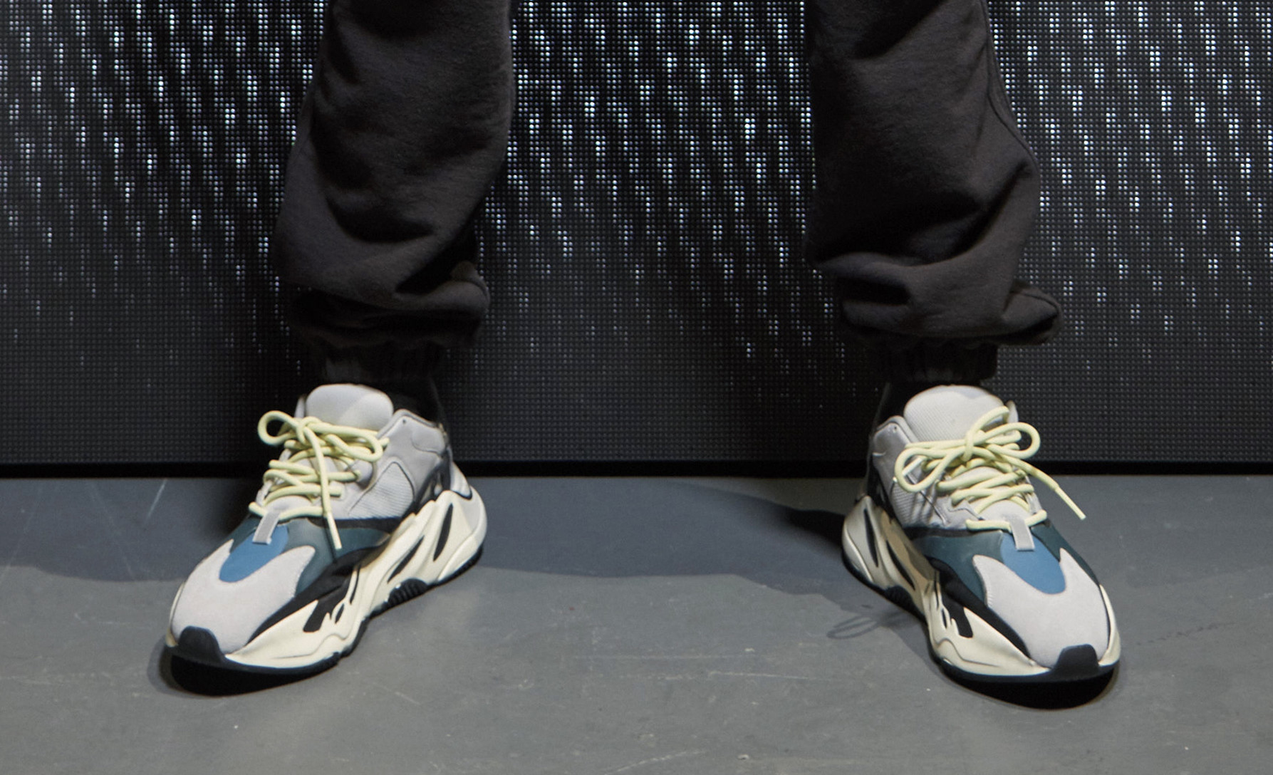 08c0280796f Kanye West Yeezy Runner Triple Black   White Teal