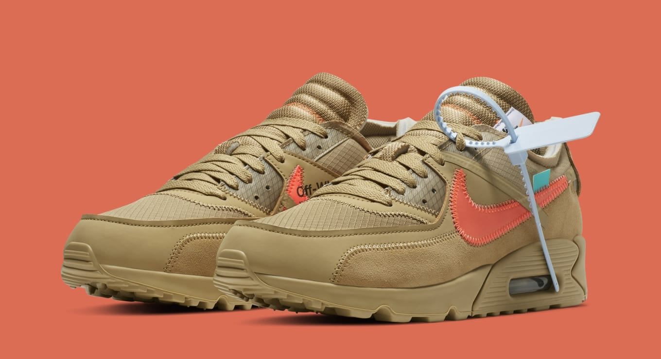 closer at finest selection various design Off-White x Nike Air Max 90 'Desert Ore' AA7293-200 Release ...