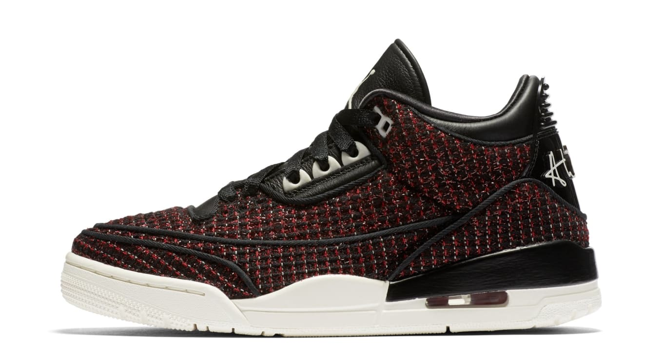 325f55eb026b Vogue x Air Jordan 3 SE AWOK  University Red Sail Black . Image via Nike