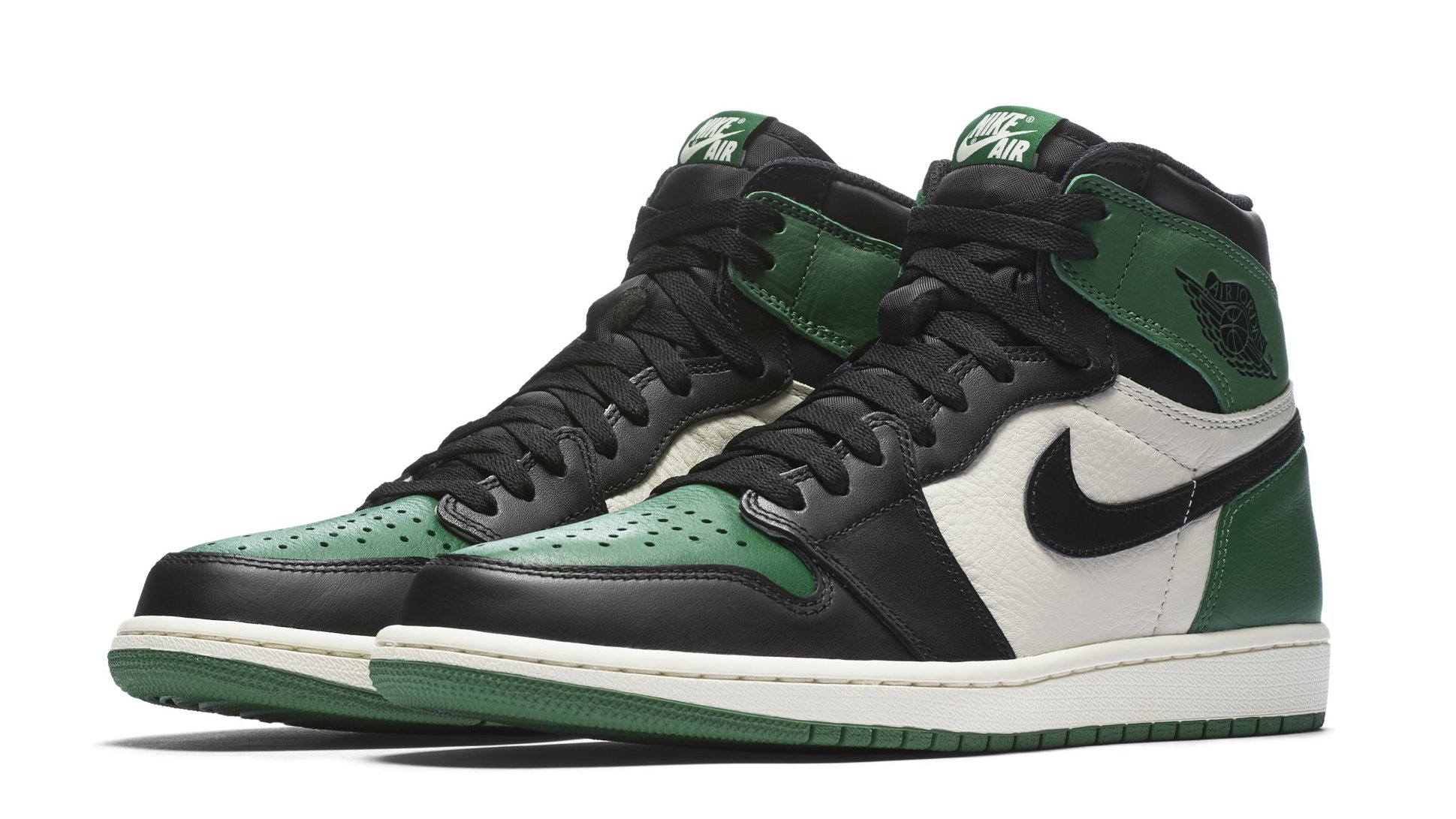 44bd3fd70bb32b Air Jordan 1 High OG NRG Pine Green Sail-Black 555088-302 Release Date