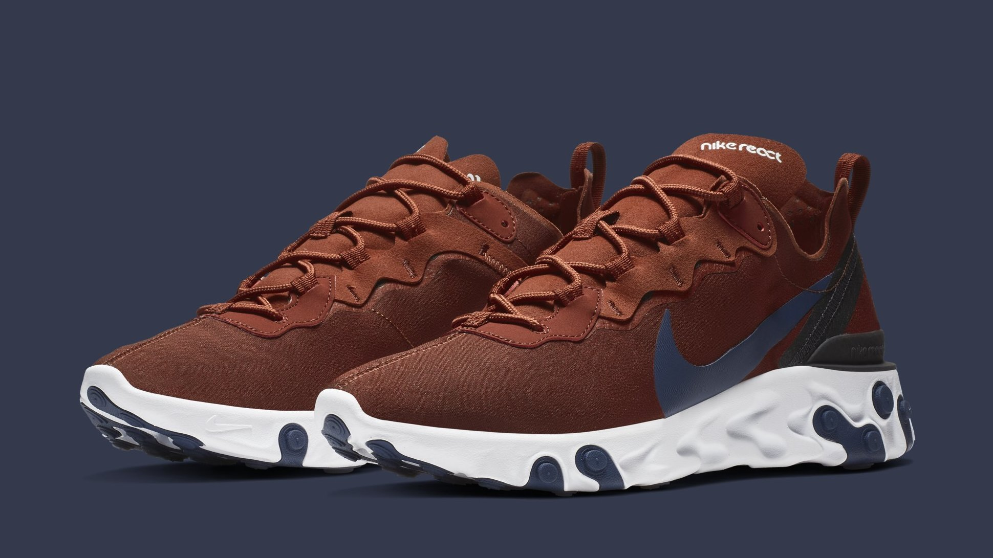 Nike React Element 55 Brown BQ6166 600 Release Date