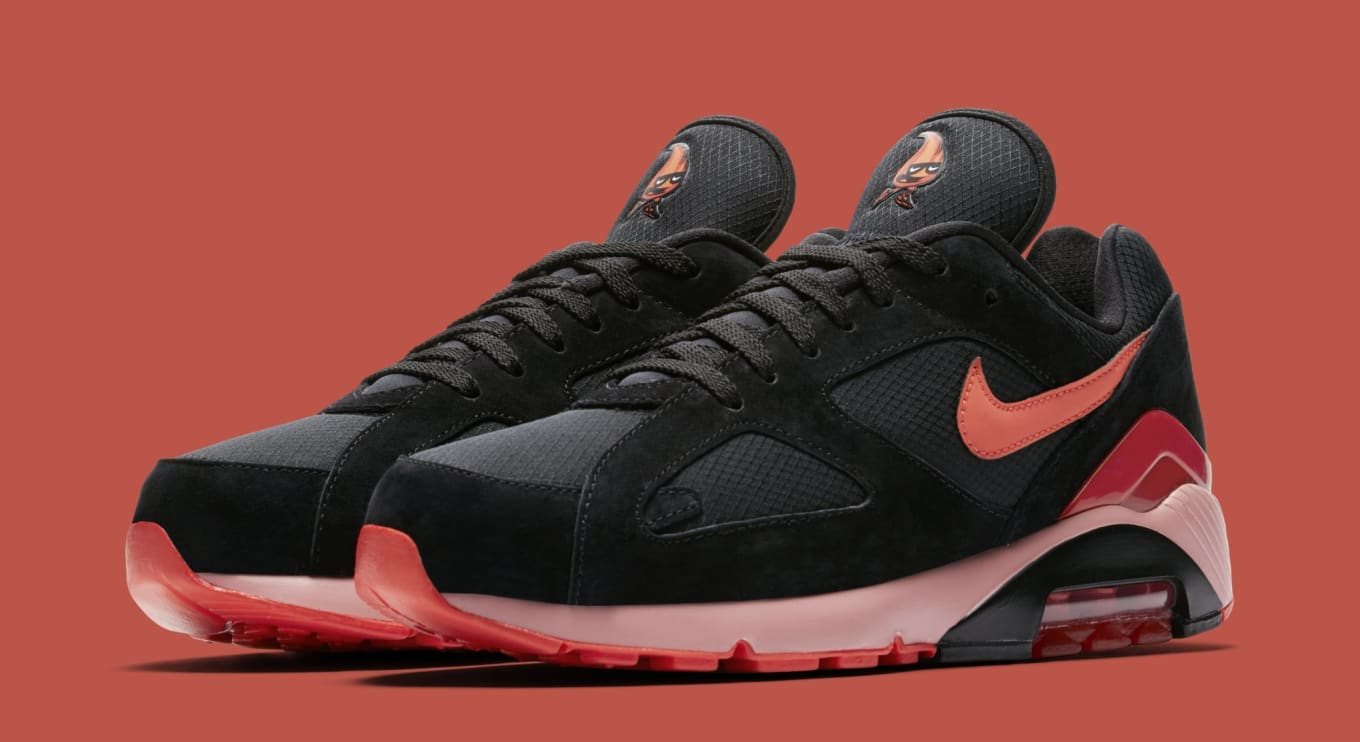 Nike Collection Nike Air Max 180 Black Red,all nike air