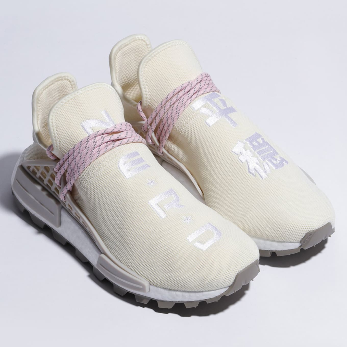 new styles 4f1a1 0bb7a Pharrell x Adidas NMD Hu 'N.E.R.D.' in 'Cream/Pink' | Sole ...