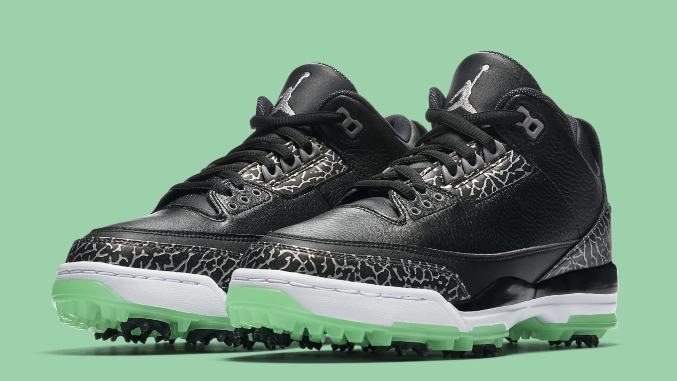 e6b1ed68f57deb Jordan Brand Is Dropping Another Air Jordan 3 Golf Shoe.  Green Glow   coming to a golf course near you.