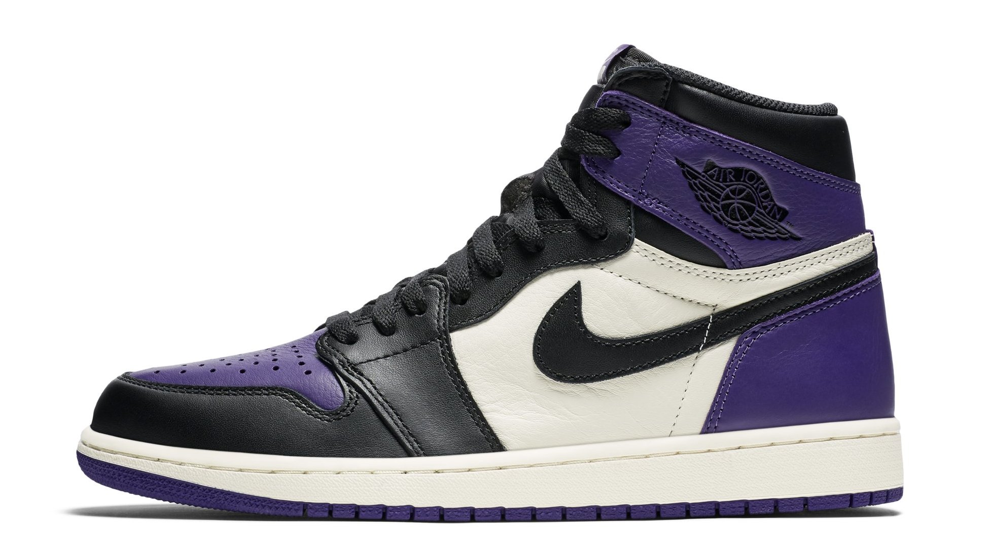 3e99bb950006fe Air Jordan 1 I Court Purple Sail Black Release Date 555088-501 ...