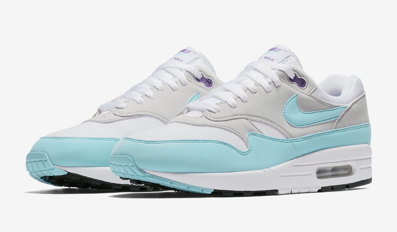 uk availability fab4e b8a0a Nike Air Max 1 Anniversary  Aqua  908375-105 Release Date   Sole ...