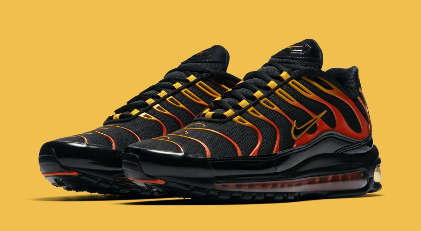 Nike Air Max 97 Plus Black Engine Shock Orange Ah8144 002