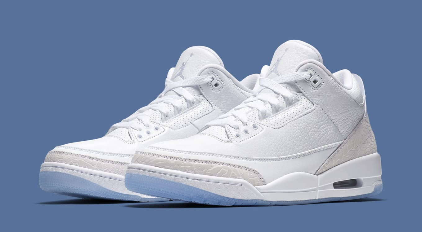 Pure White  Air Jordan 3 Retro Set to Drop This Summer c01e6e2cde87