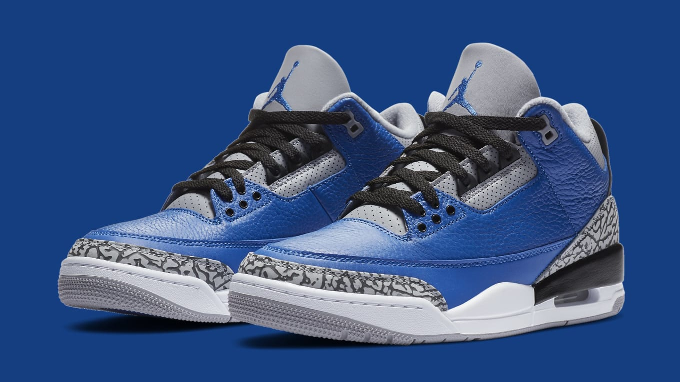 Jordans 3 Air Jordan 3 III 'Varsity Royal' Release Date CT8532-400 | Sole ...