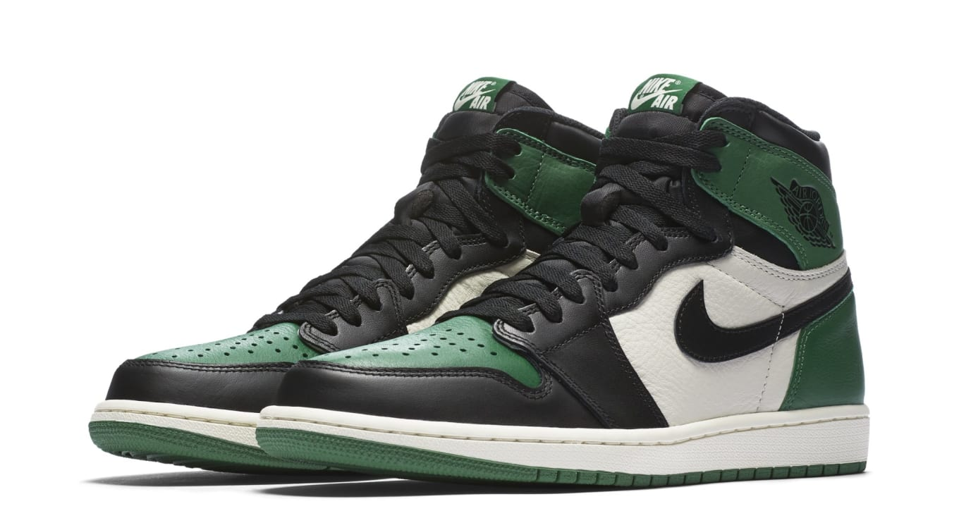 46092efbb53ec1 Air Jordan 1 High OG NRG Pine Green Sail-Black 555088-302 Release ...