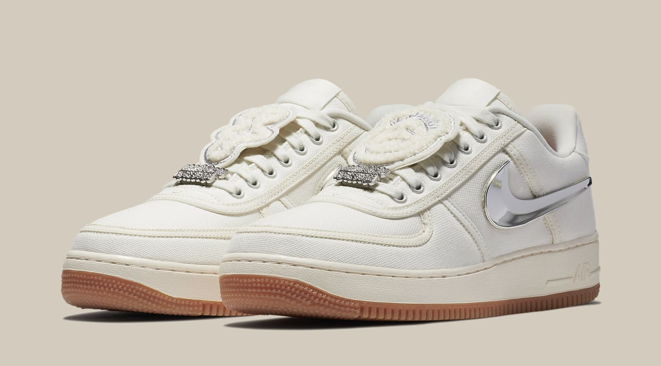 b3fc55f2e5b Travis Scott x Nike Air Force 1 Low Sail Release Date AQ4211-101 ...