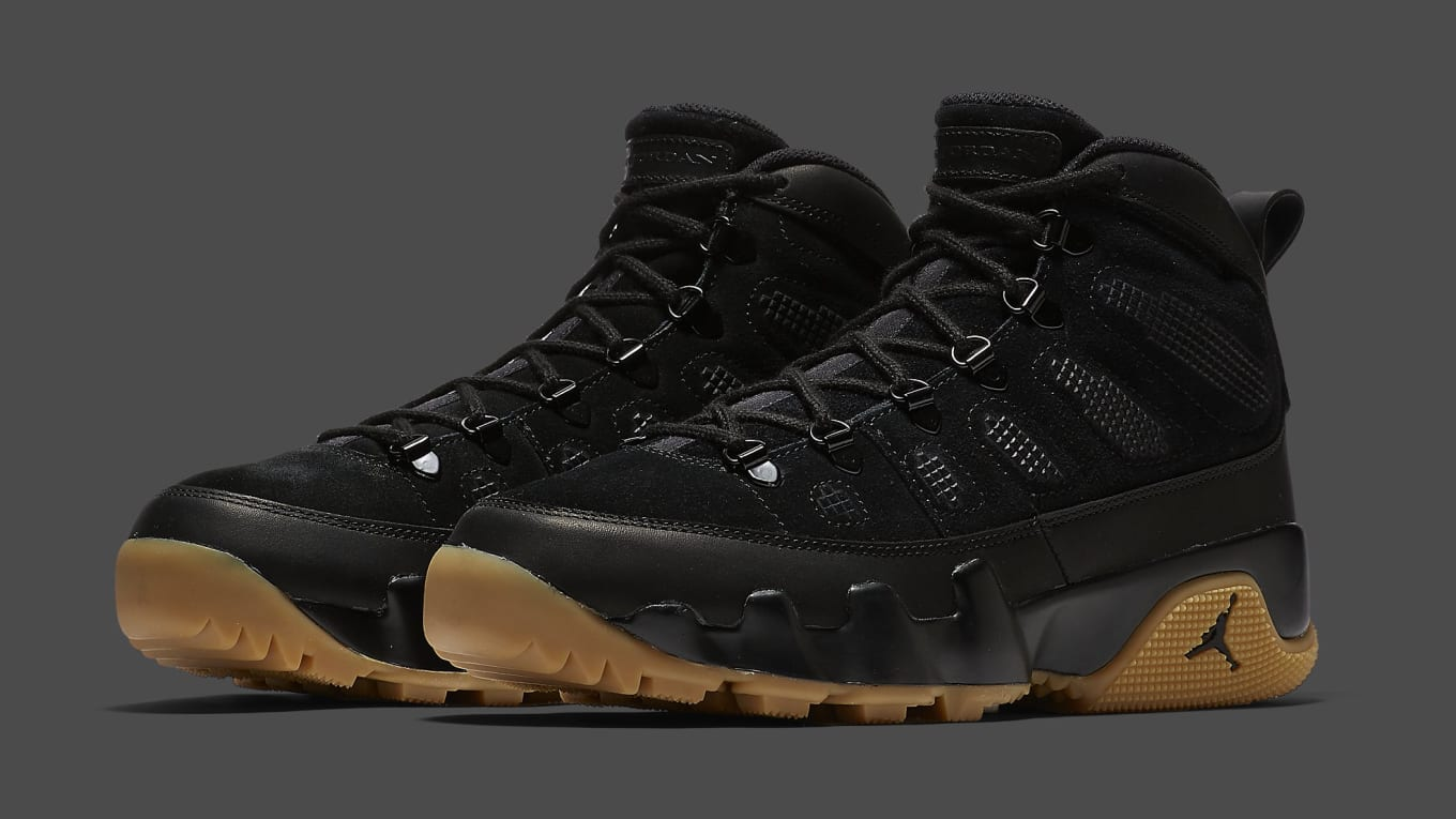 6165871b0795 Air Jordan 9 Boot Black Gum