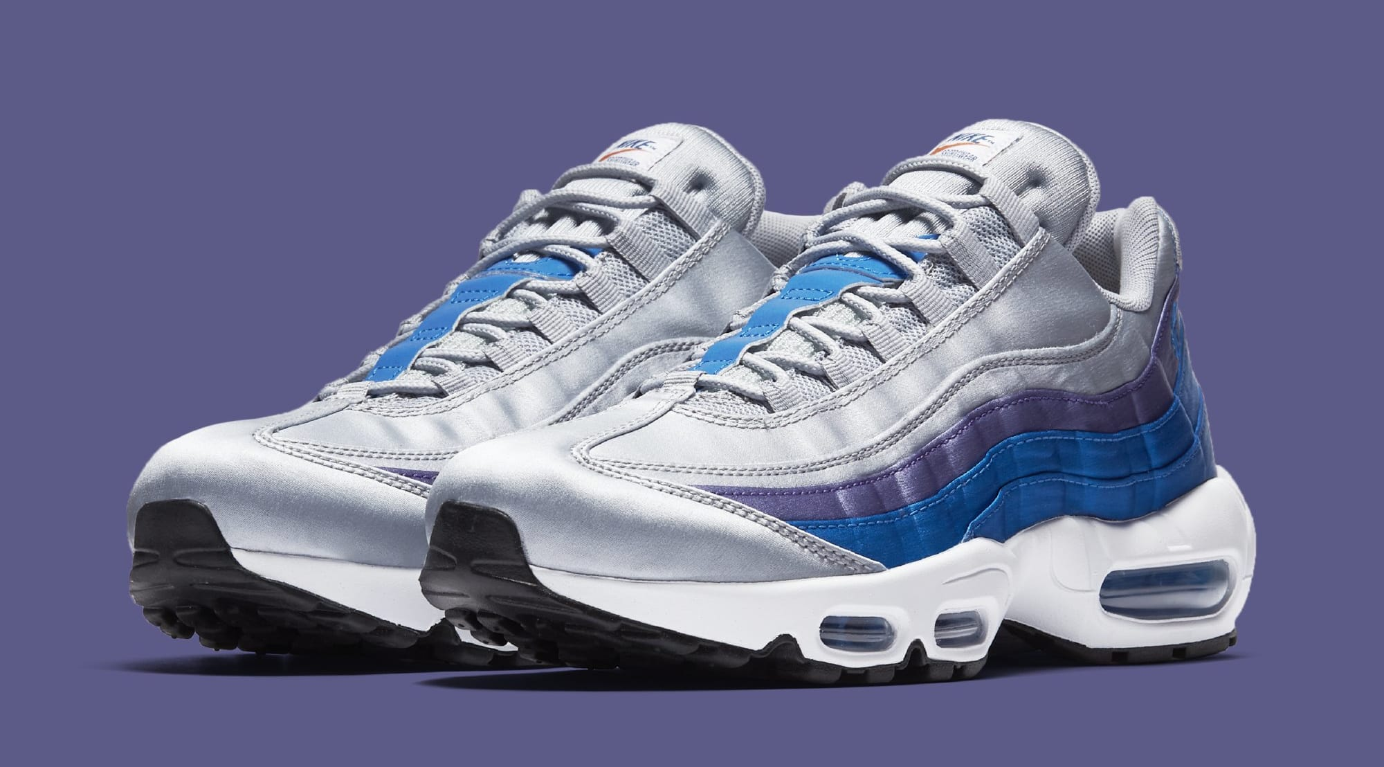 new product 47eed bbfac ... cheap nike puts retro logos on the air max 95 39fe4 6f126 ...