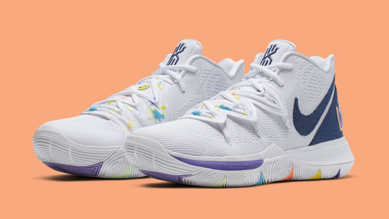 half off 6c20f 9491c Nike Kyrie 5  Have a Nike Day  White Deep Royal-Glacier Blue AO2919 ...